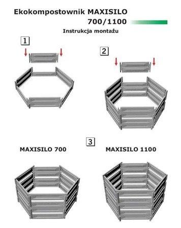 Ekokompostownik MAXISILO - 1100 l