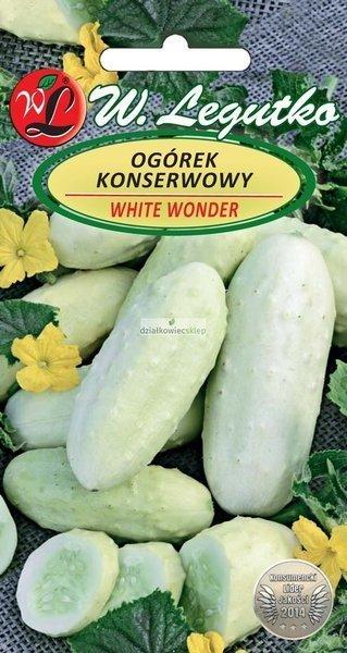 Ogórek gruntowy konserwowy White Wonder F1 - biały (2 g)