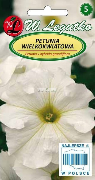Petunia wielkokwiatowa biała (0,01 g)