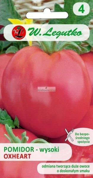 Pomidor gruntowy wysoki Oxheart (Malinowy Bawole Serce) (0,2 g)