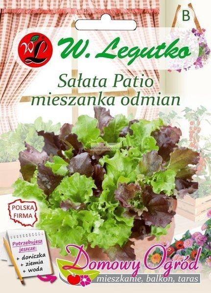Sałata Patio - mieszanka odmian (1 g) - Domowy Ogród