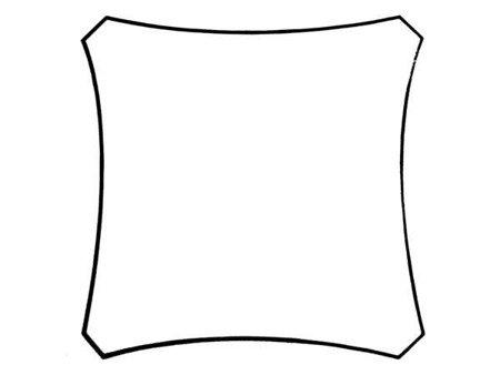 Żagiel przeciwsłoneczny kwadratowy - zacieniacz - 5 x 5m (szampan)